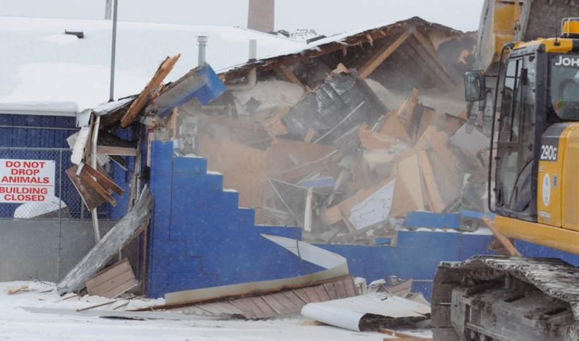 City demolishes old dog pound