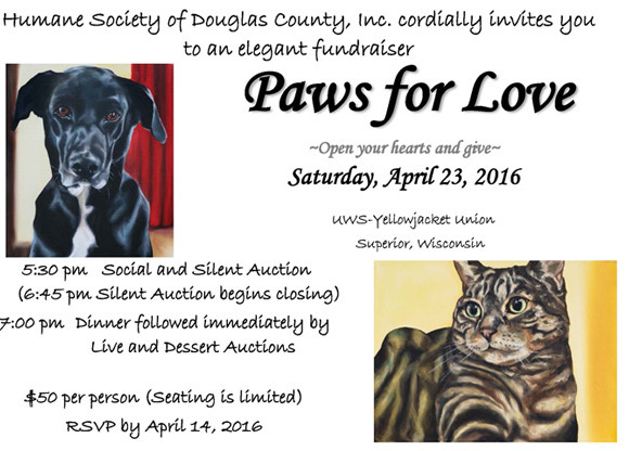 Humane Society of Douglas County Paws for Love