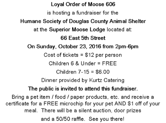Loyal Order of Moose 606 Fundraiser
